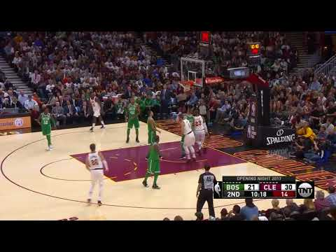 LeBron James First Half Highlights - Cleveland Cavaliers vs. Boston Celtics - 17/10/2017