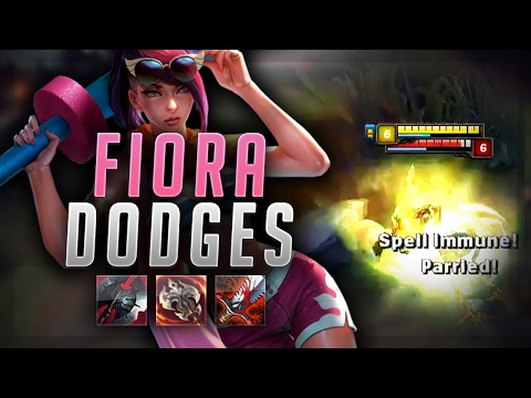 BEST FIORA DODGES! UNSTOPPABLE FORCE CAN'T STOP ME! - Road to Challenger #54