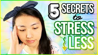 ☘️5 Secrets to STRESS LESS! Tips & Tricks for How to Deal with Stress in High School📚 | Katie Tracy
