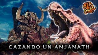 Monster Hunter World - Cazando un Anjanath