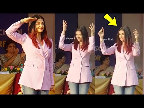 Aishwarya rai Bachchan cheers daughter Aaradhya Bachchan in her Annual Sports Day