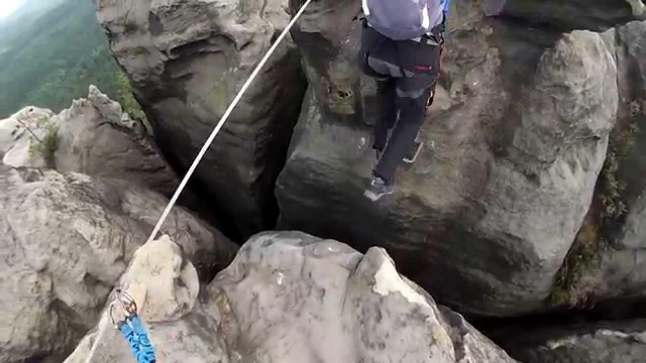 Klettersteig Sächsische Schweiz : Häntzschelstiege klettersteig sächsische schweiz youtube