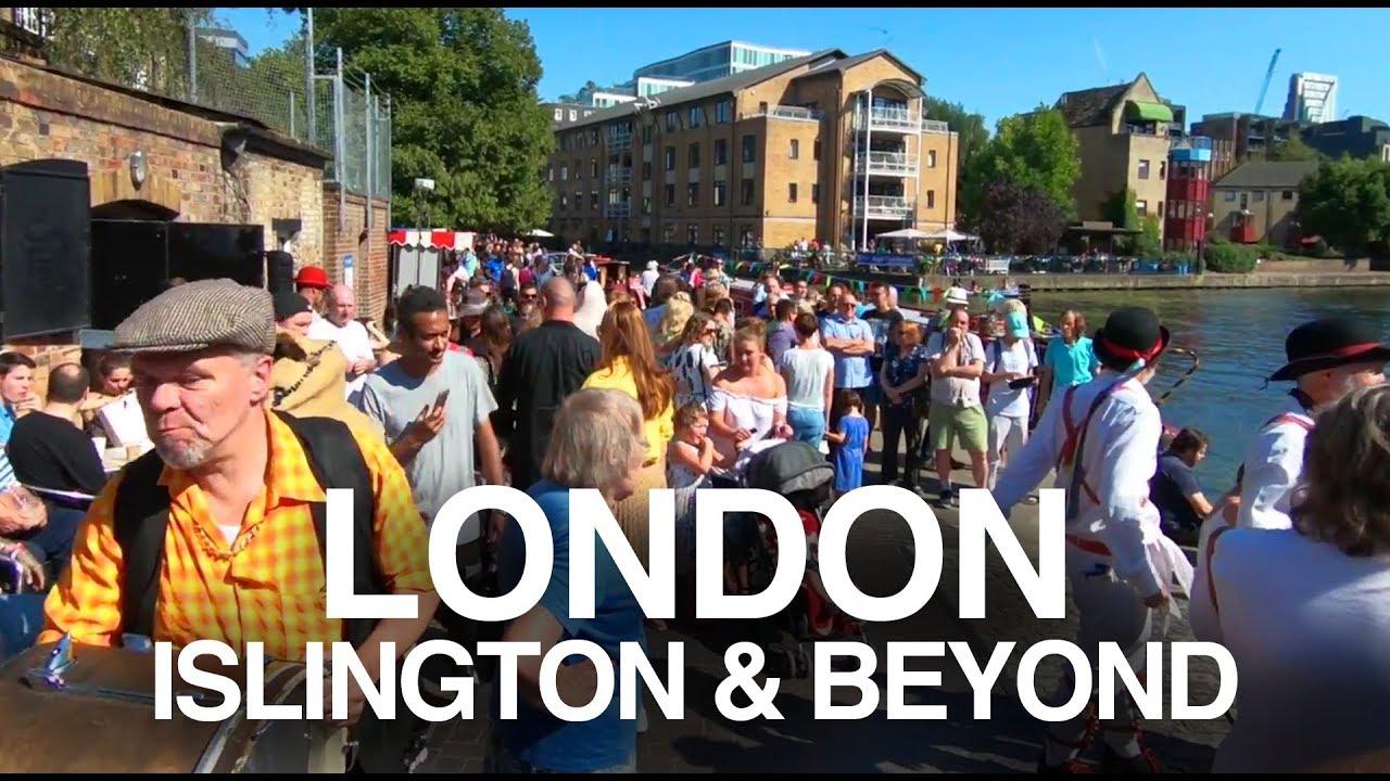 [4K] LONDON (2019) STREETS & CANAL WALK - Angel to London Fields