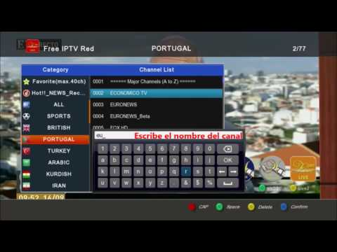 Free IPTV user guide Spanish