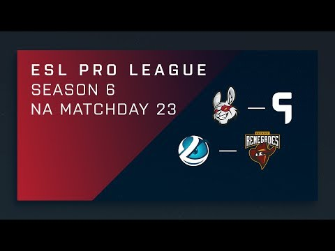 CS:GO: Misfits vs. Ghost | Luminosity vs. Renegades - Day 23 - ESL Pro League Season 6 - NA Main