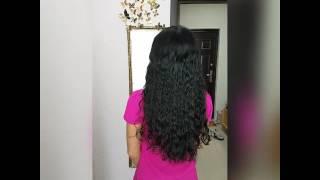 Наращивание кудрявых волос
