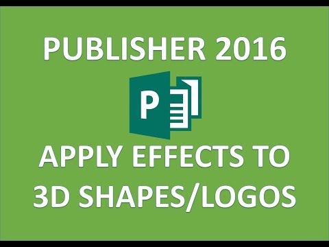 Publisher 2016 - Apply Shape Effects