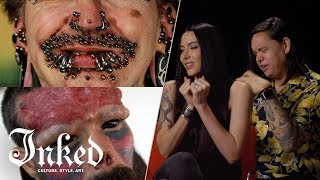 Tattoo Artists React To Extreme Body Modification  Tattoo Artists React