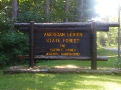 Camping At American Legion State Forest In Riverton,Ct