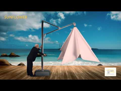 parasol d port sunflower youtube. Black Bedroom Furniture Sets. Home Design Ideas