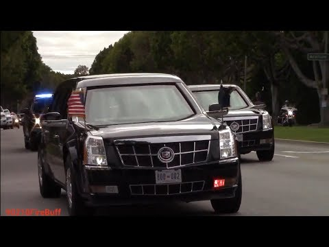 United States President Donald Trump's Motorcade & United States Secret Service in Beverly Hills