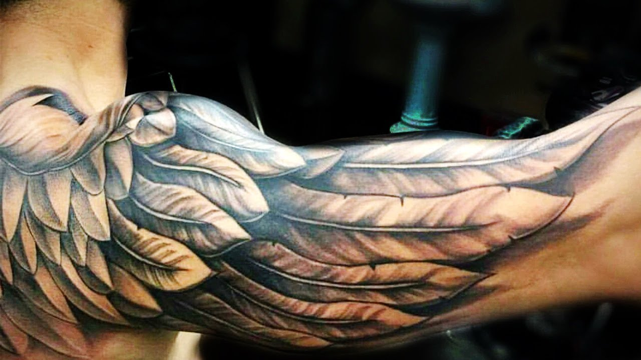 Most Amazing Simple Tattoos: 40 Amazing Wing Tattoo Ideas For Men