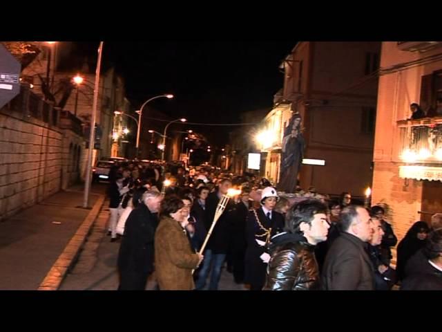 Gambatesa 6 aprile 2012: processione del Venerdì Santo