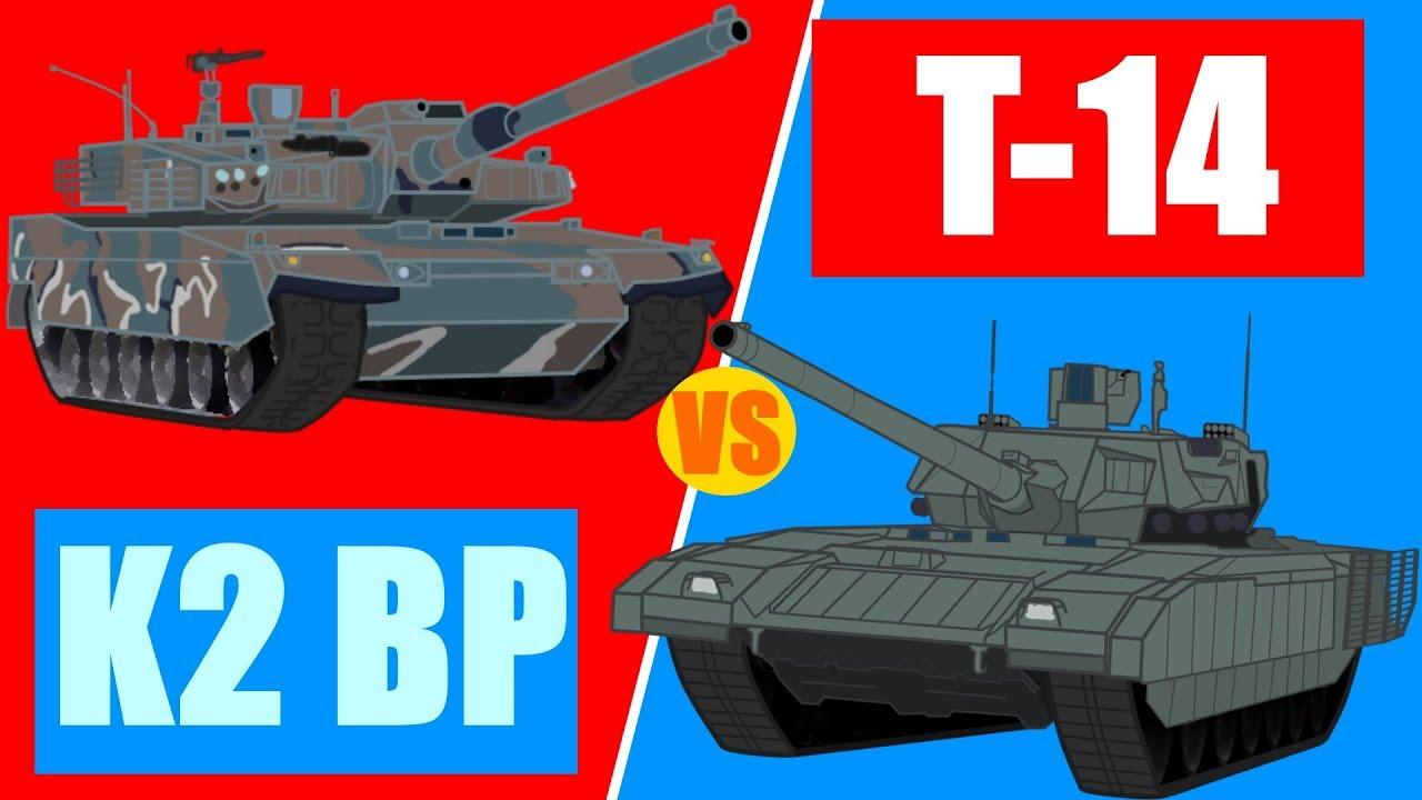T-14 Armata vs K2 Black Panther - Tank Arena Episode 3.