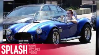 Aaron Paul Turns Heads in His Vintage Shelby Cobra | Splash News TV