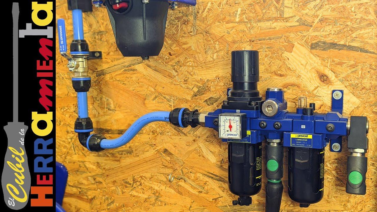 Conexiones rapida y lubricacion de aire comprimido