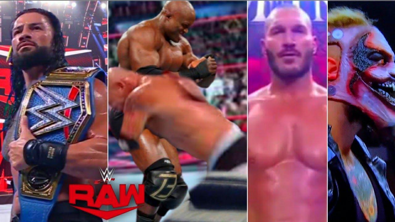WWE Monday night Raw 2nd August 2021, Highlights   Roman Reigns Vs BIG E   Goldberg Spears Lashley