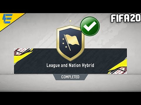 FIFA 20 LEAGUE AND NATION HYBRID SBC CHEAPEST SOLUTION | SQUAD BUILDING CHALLENGE | FIFA 20