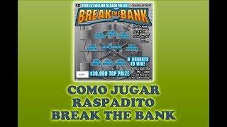 Gambar cover Como Jugar Raspadito Break the Bank loteria de texas Raspaditos Powerball en Español