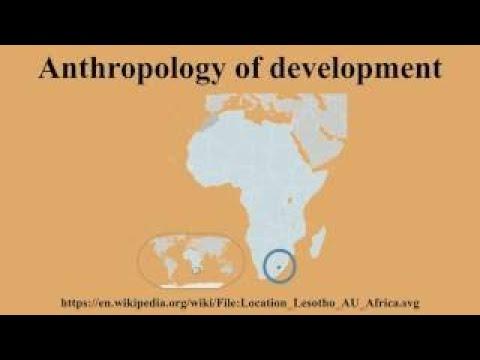 Anthropology of development