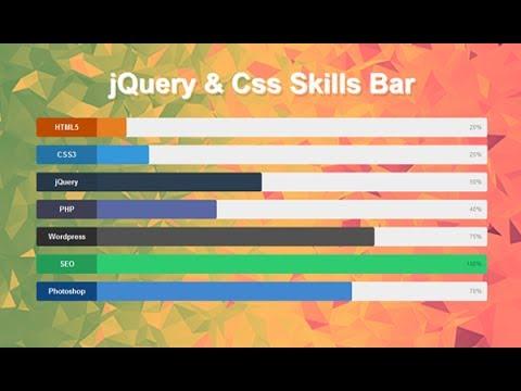 Animated Skill Bar Using Jquery And Css, Javascript Loading Bar thumbnail