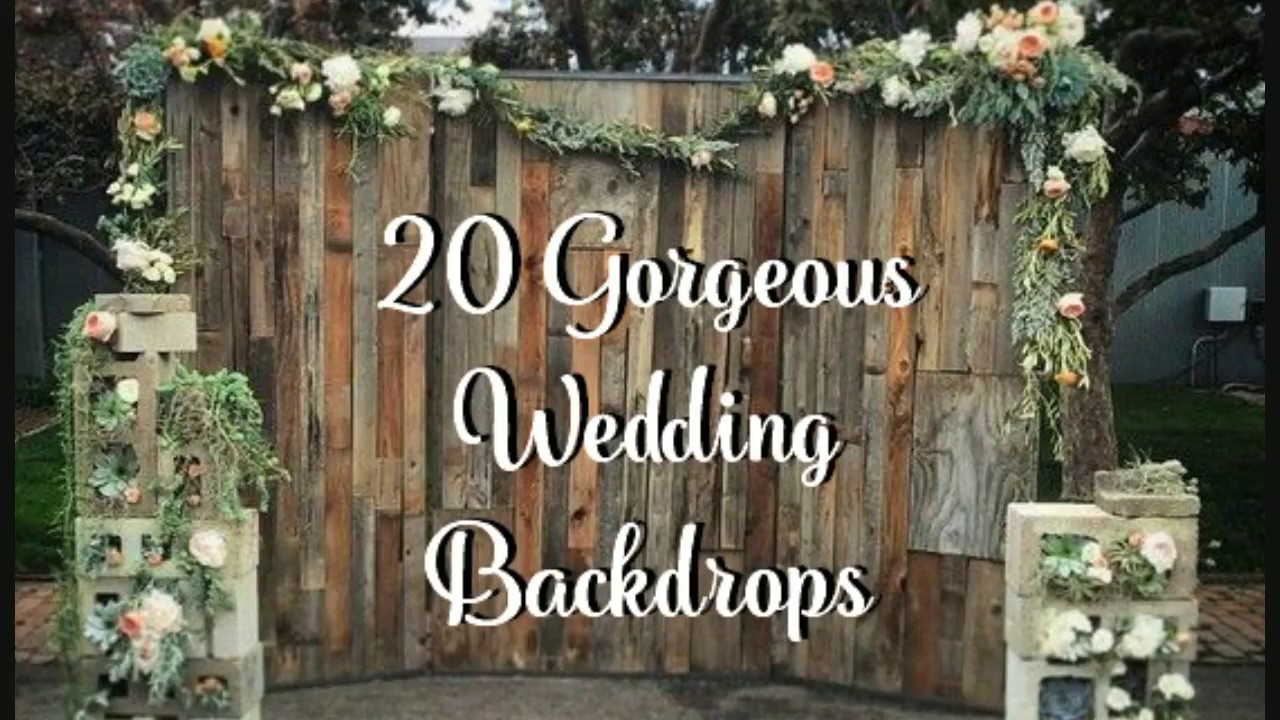 20 Wedding Backdrop Ideas