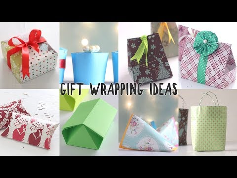 8 Easy Gift Wrapping Ideas | Paper Craft | Ventuno Art