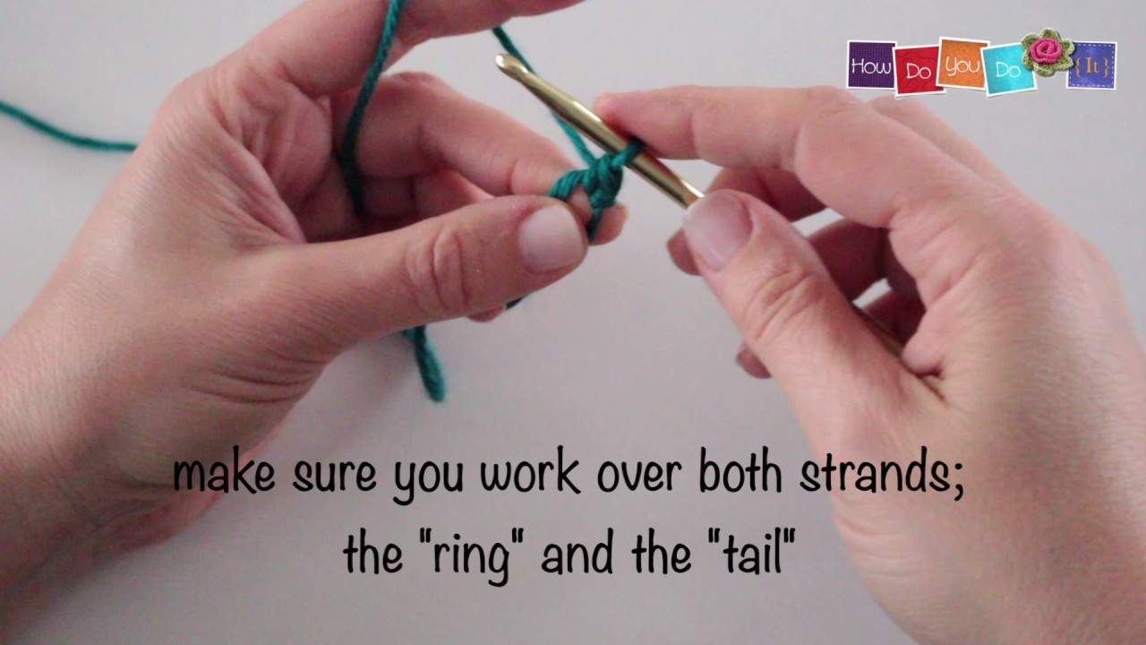 How To Crochet A Magic Ring With Single Crochet 29 Youtube