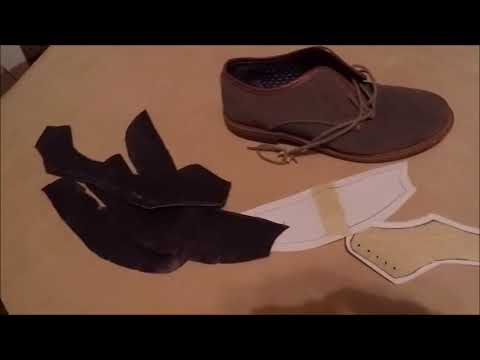making and cutting shoe design pattern