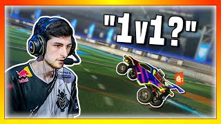 I challenged popular Rocket League streamers to 1v1 me & made them rage...