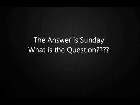 What's the question?Sunday - Father's Day radio phone call