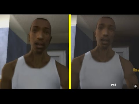GTA San Andreas PS2 vs PS4 Graphics Comparison
