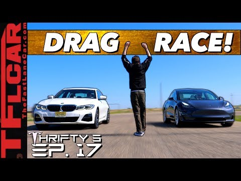 Ouch!! Watch a Tesla Model 3 Destroy the New BMW 3 Series In a Drag Race - Thrifty 3 E.17