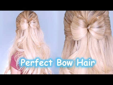 HOW TO DO A PERFECT HAIR BOW | Cute Easy Fast Beginner Hairstyle Tutorial Ideas