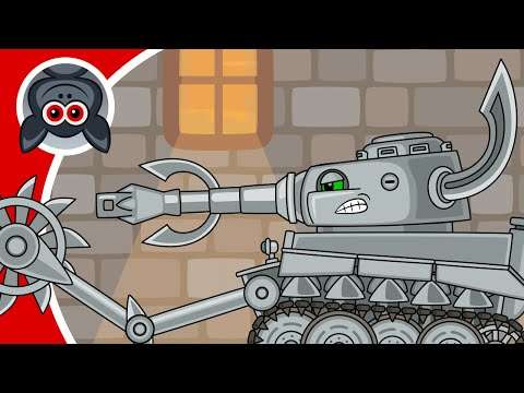 Leviathan vs Super Mutant. Adventures of Steel Monster. Cartoons About Tanks