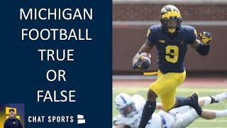 Michigan Football News: 8 True or False Questions on Michigan Football - With James Yoder