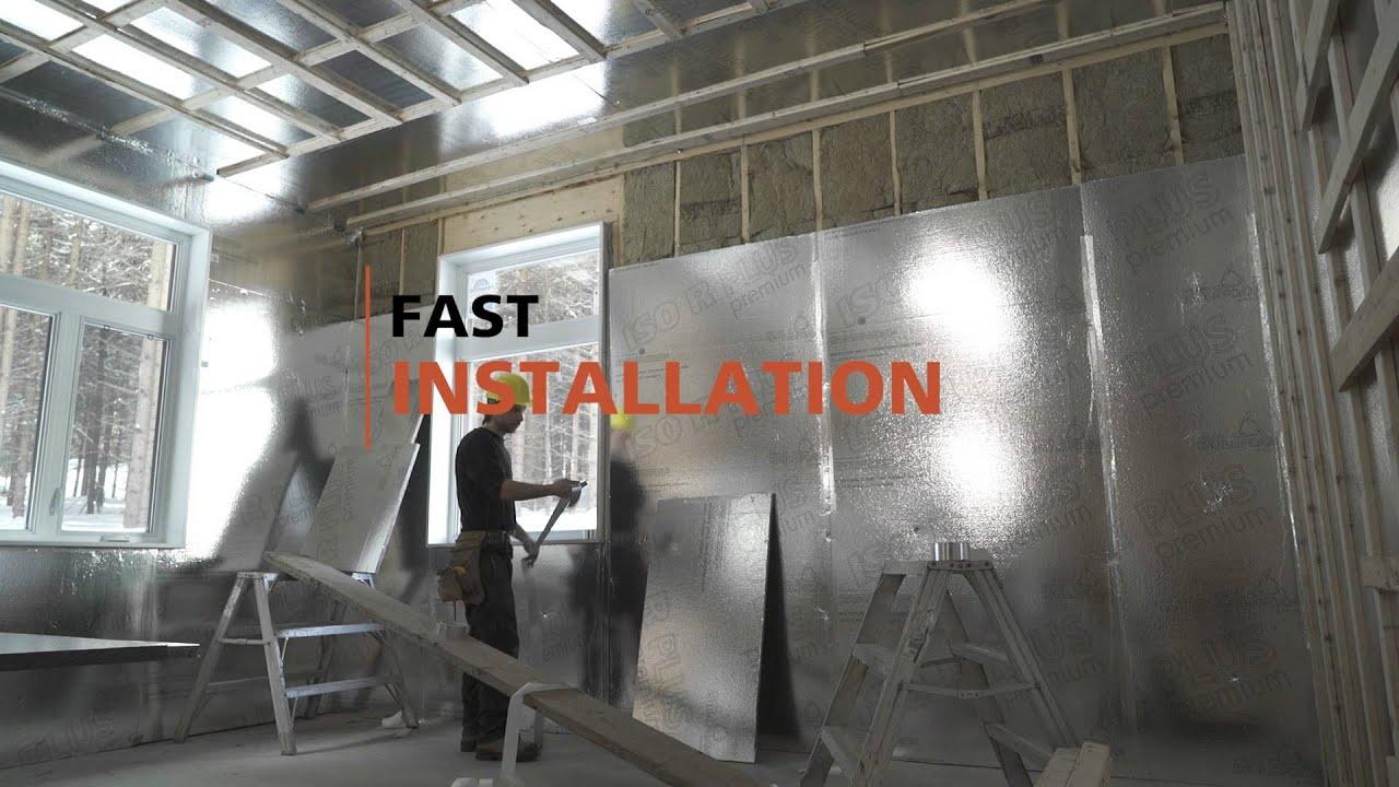 Iso R Plus Premium Interior Wall And Ceiling Insulation