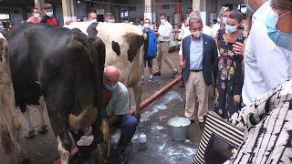 Los Reyes reconocen en su visita a Cantabria el papel del sector primario