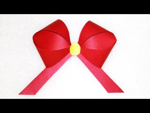 How To Make a Paper Bow | Origami Bow | Paper Cutting Art