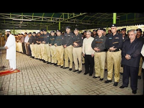 Funeral prayer of Constable Zafar Iqbal offered today in Police Lines