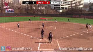 Montclair State Softball Highlights vs. Stockton - 4/14/18