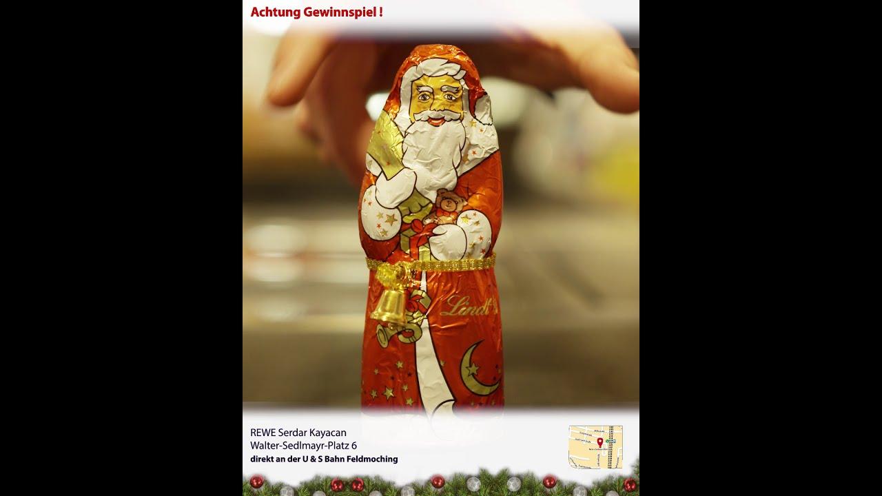 Weihnachtsgewinnspiel REWE Kayacan OHG   Der schönste Weinachtssupermarkt in München   Spot 1/7
