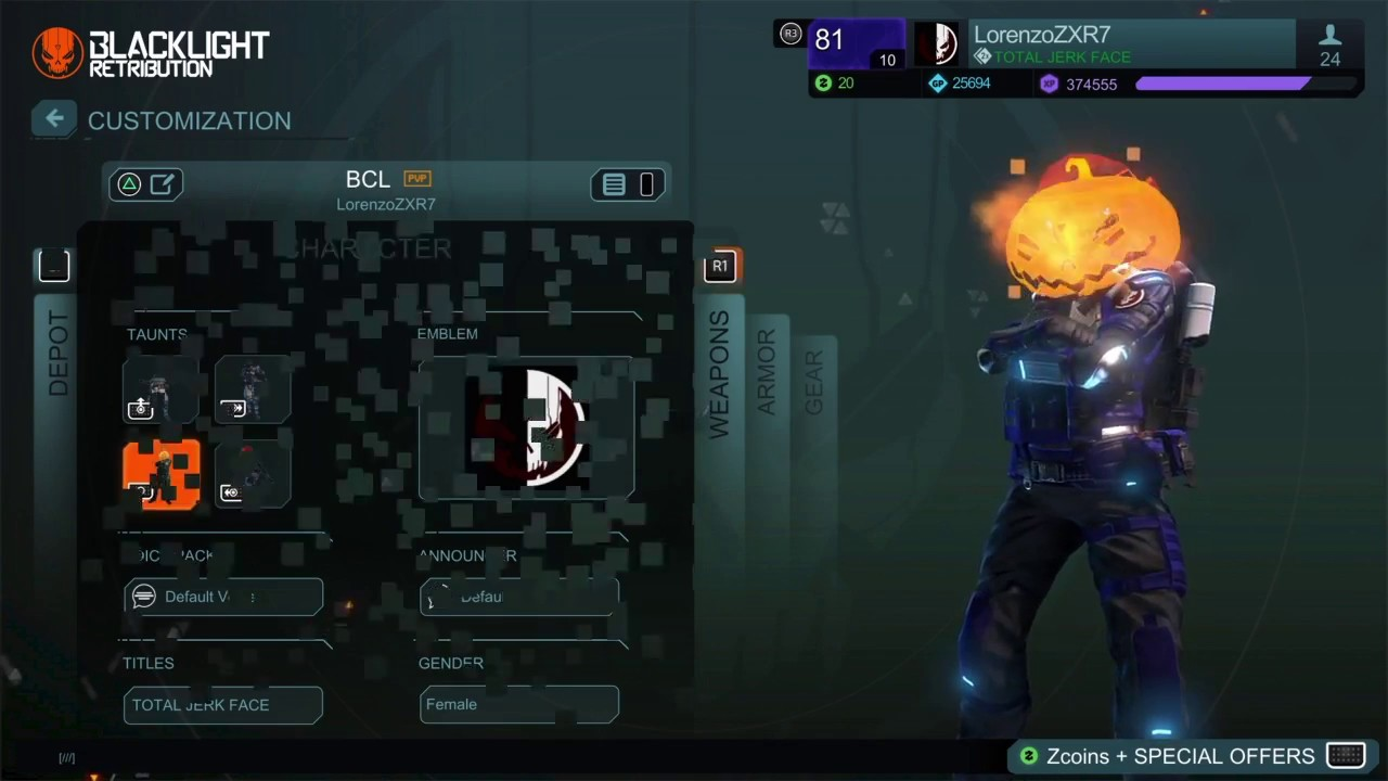 Download MY FAVOURITE ARMOUR BUILD! - Blacklight Retribution Commentary :D