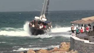 Sissi boat crash Crete Greece part 2-5