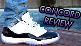 concord air jordan 11 low w on feet review