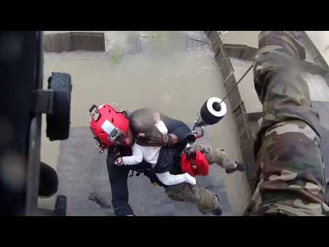 New York Air National Guard Pararescuemen rescue families in Houston