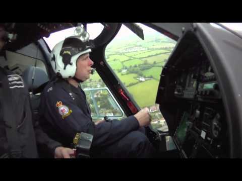 Dyfed Powys Police Helicopter in flight