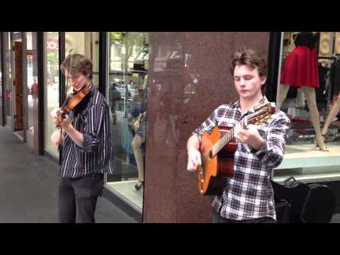 Incredible Gypsy Jazz musicians (clip 1)