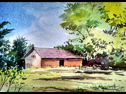 Simple Watercolor Landscape Painting | Paint with david