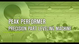 KOHLER - Precision Parts Leveler - Flattening Sheet Metal / Teilerichtmaschine Peak Performer